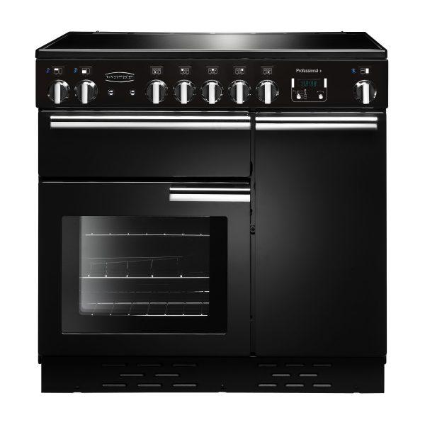 Rangemaster PROP90EIGB/C Professional Plus 90 Induction Range Cooker In Gloss Black