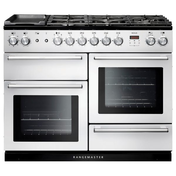 Rangemaster NEX110DFFWH/C Nexus 110cm Dual Fuel Range Cooker White