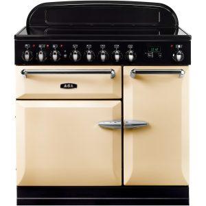 AGA MEIMSO_CRM Masterchef XL Induction Range Cooker Cream 90cm