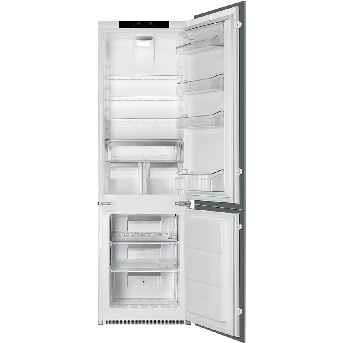 Smeg c7280nld2p bottom mount refrigerator freezer built - Frigoriferi da incasso ikea ...