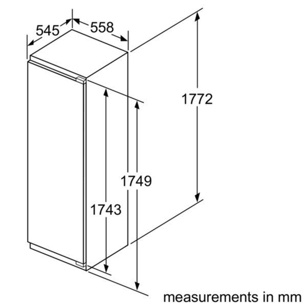 Neff GI7813E30G Frost Free Full Height Integrated Freezer Fixed Hinge