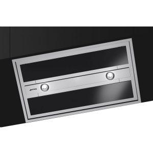 Smeg KSEG90VXNE-2 New 90cm Ceiling Hood, Stainless Steel and Black