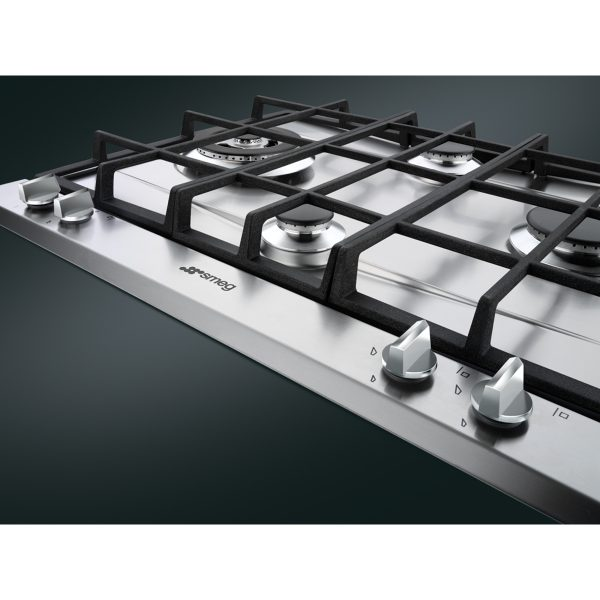 Smeg P261XGH Cucina Aesthetic 60cm Gas Hob, Stainless Steel