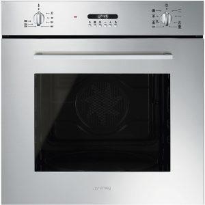 Smeg SF478X Cucina Aesthetic 60cm Multifunction Oven, Stainless Steel