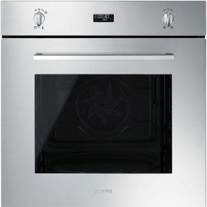 Smeg SF485X Cucina Aesthetic 60cm Multifunction Oven, Stainless Steel