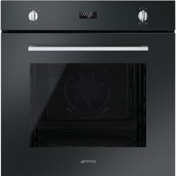 "Smeg SFP485N Cucina Aesthetic 60cm ""Cucina"" Pyrolytic Multifunction Oven, Black"