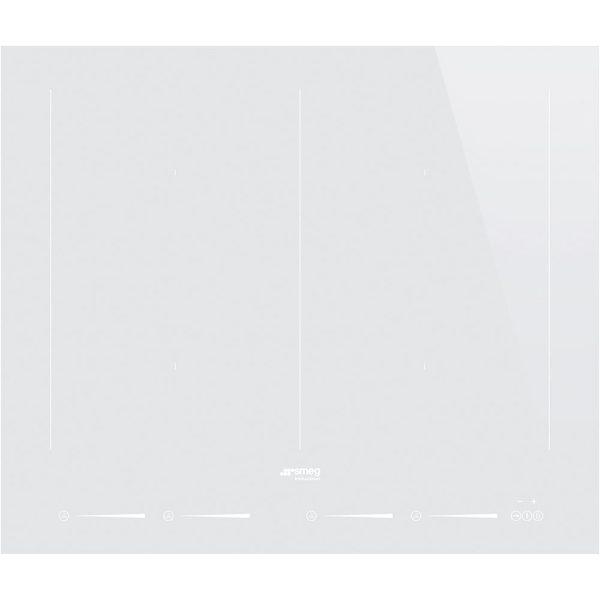 Smeg SIM662DW New 60cm Slider Touch Control Multizone Induction Hob, Straight Edge Glass, White