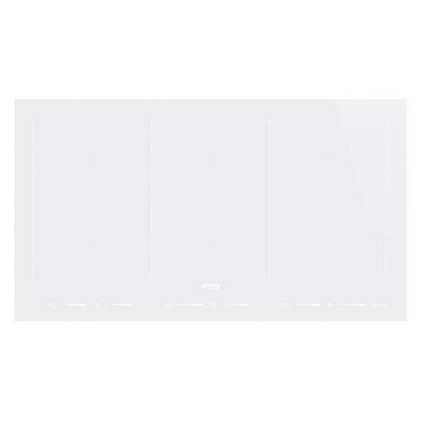 Smeg SIM693DW New 90cm 90cm Slider Touch Control Multizone Induction Hob, Straight Edge Glass, White