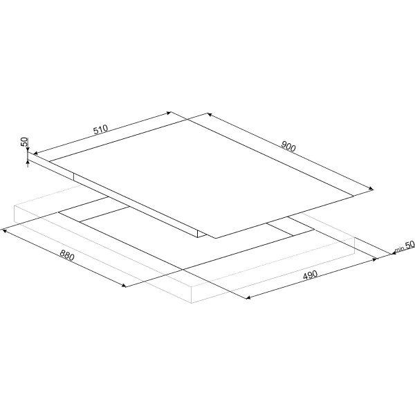 Smeg SIM693DW New 90cm 90cm Slider Touch Control Multizone Induction Hob, Straight Edge Glass, White Spec