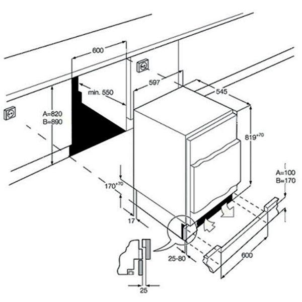 Smeg UKUD7108FSEP Integrated Underworktop Freezer Energy Efficiency Class A+ spec