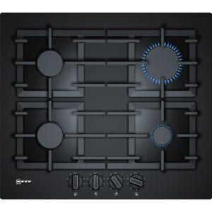 Neff T26CS49S0 60 cm, gas hob, black tempered glass
