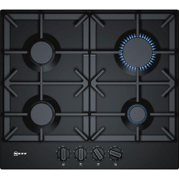 Neff T26DS49S0 60 cm, gas hob, black enamel