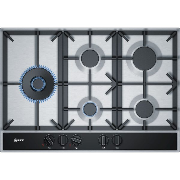 Neff T27DA79N0 75 cm, gas hob, Stainless steel