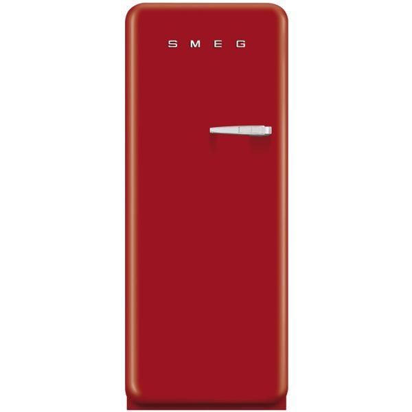 Smeg CVB20LR1 50's Retro Style Aesthetic freezer in Red, Left hand hinge