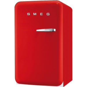 Smeg FAB10LR 50's Retro Style Aesthetic 50's Fridge with ice compartment in Red, Left hand hinge