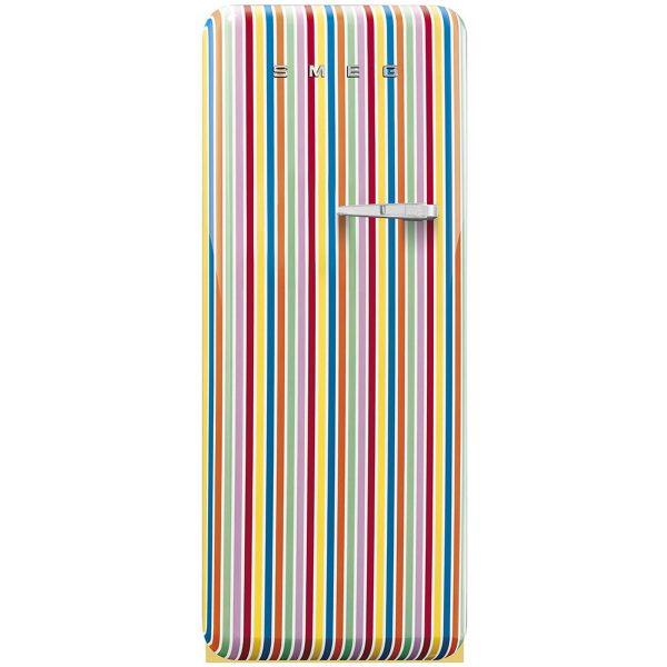 Smeg FAB28YCS1 50's Style Fridge with Freezer Compartment Stripe