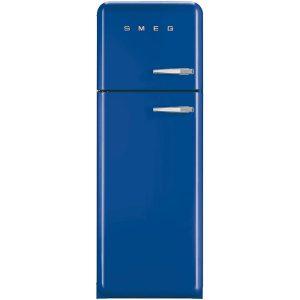 Smeg FAB30LFB 50's Retro Style Aesthetic Fridge-Freezer Blue, Left hand hinge