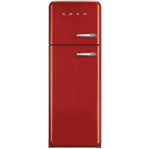 Smeg FAB30LFR 50's Retro Style Aesthetic Fridge-Freezer Red, Left hand hinge