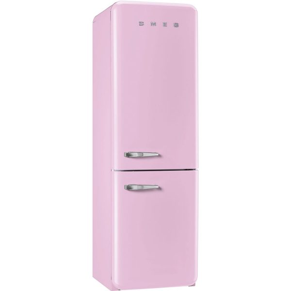 Smeg FAB32RNP Freestanding Retro Fridge Freezer No Frost Version Right Hand Hinge