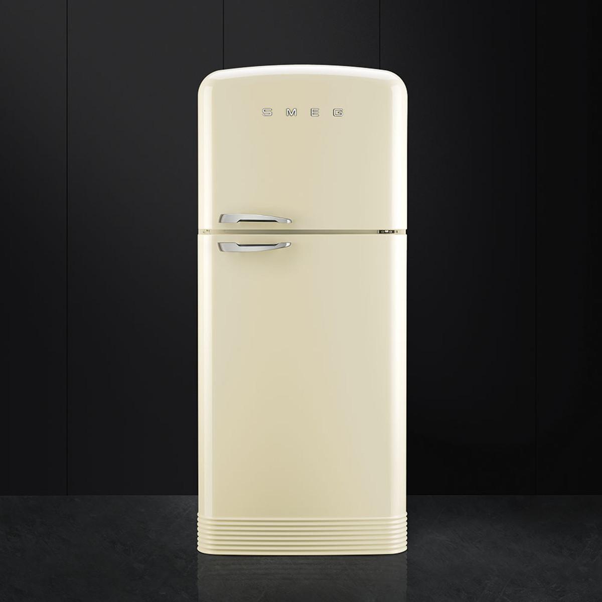 Buy smeg fab50rcr retro style fridge freezer in cream rh for Smeg fridge