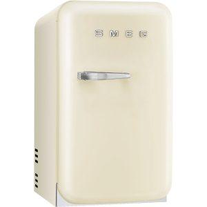 Smeg FAB5RCR New 50s Retro Style Aesthetic Minibar Cooler in Cream, Right hand hinge