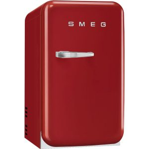 Smeg FAB5RRD New 50's Retro Style Aesthetic Minibar Cooler in Red, Right hand hinge