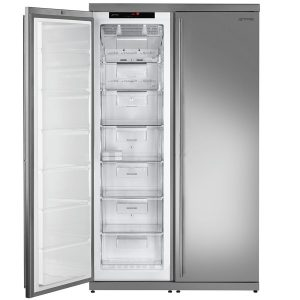 Smeg FF354LX New Classic Aesthetic Freestanding Freezer with Stainless Steel Door