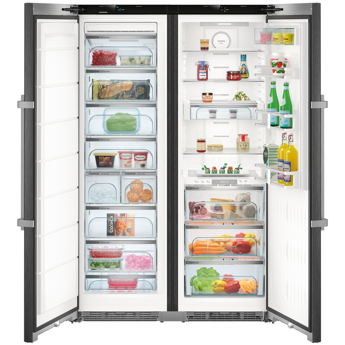 liebherr sbsbs 8673 premium biofresh nofrost side by side fridge freezer ex display clearance. Black Bedroom Furniture Sets. Home Design Ideas
