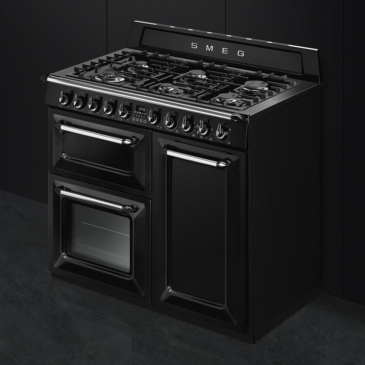 Kitchen Hob Side View ~ Smeg tr bl victoria cm traditional dual fuel range