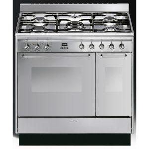 Smeg CC92MX9 Cucina 90cm Dual Fuel Range Cooker