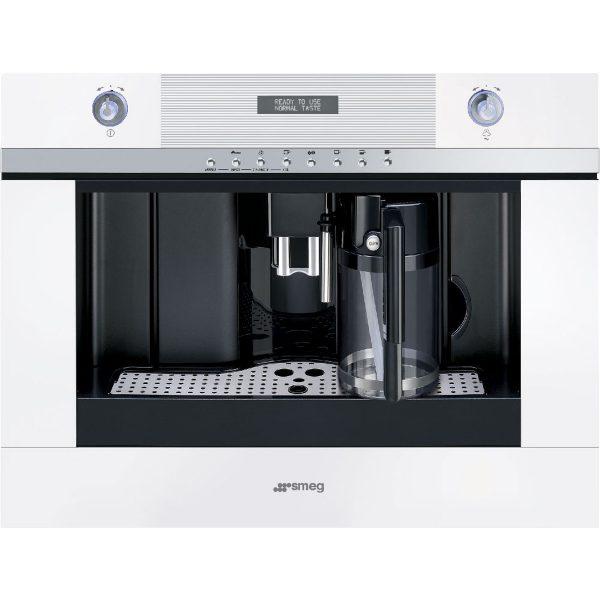 Smeg CMSC451B 60cm Linea Fully Automatic Coffee Machine and Cappuccino Maker, White