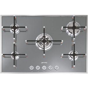 Smeg PVS750 Linea Aesthetic Hob, Gas, Silver Glass