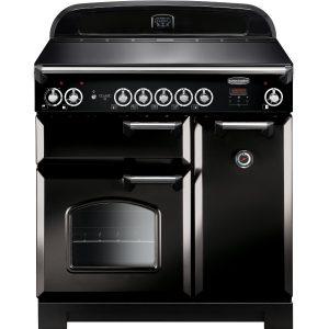 Rangemaster CLA90EIBL/C Classic 90 Induction Range Cooker – Black & Chrome