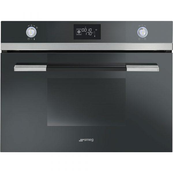 Smeg SF4120VCN 60cm Linea Compact Combination Steam Oven, Black