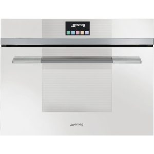 Smeg SF4140MCB 60cm Linea Compact Combination Microwave Oven, White