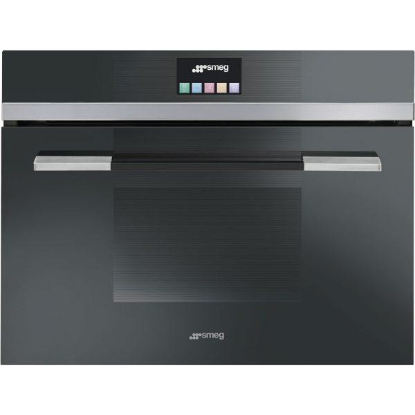 Smeg SF4140MCN 60cm Linea Compact Combination Microwave Oven Black
