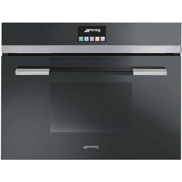 Smeg SF4140VCN 60cm Linea Combination Steam Oven, Black