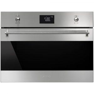 Smeg SF4390MCX 60cm Classic Compact Combination Microwave Oven