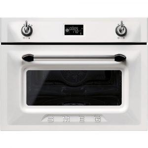 Smeg SF4920VCB 60cm Victoria Traditional Compact Combination Steam Oven, White