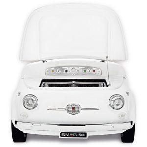 Smeg SMEG500B Exclusive Fiat 500 design refrigerator-cellar, White