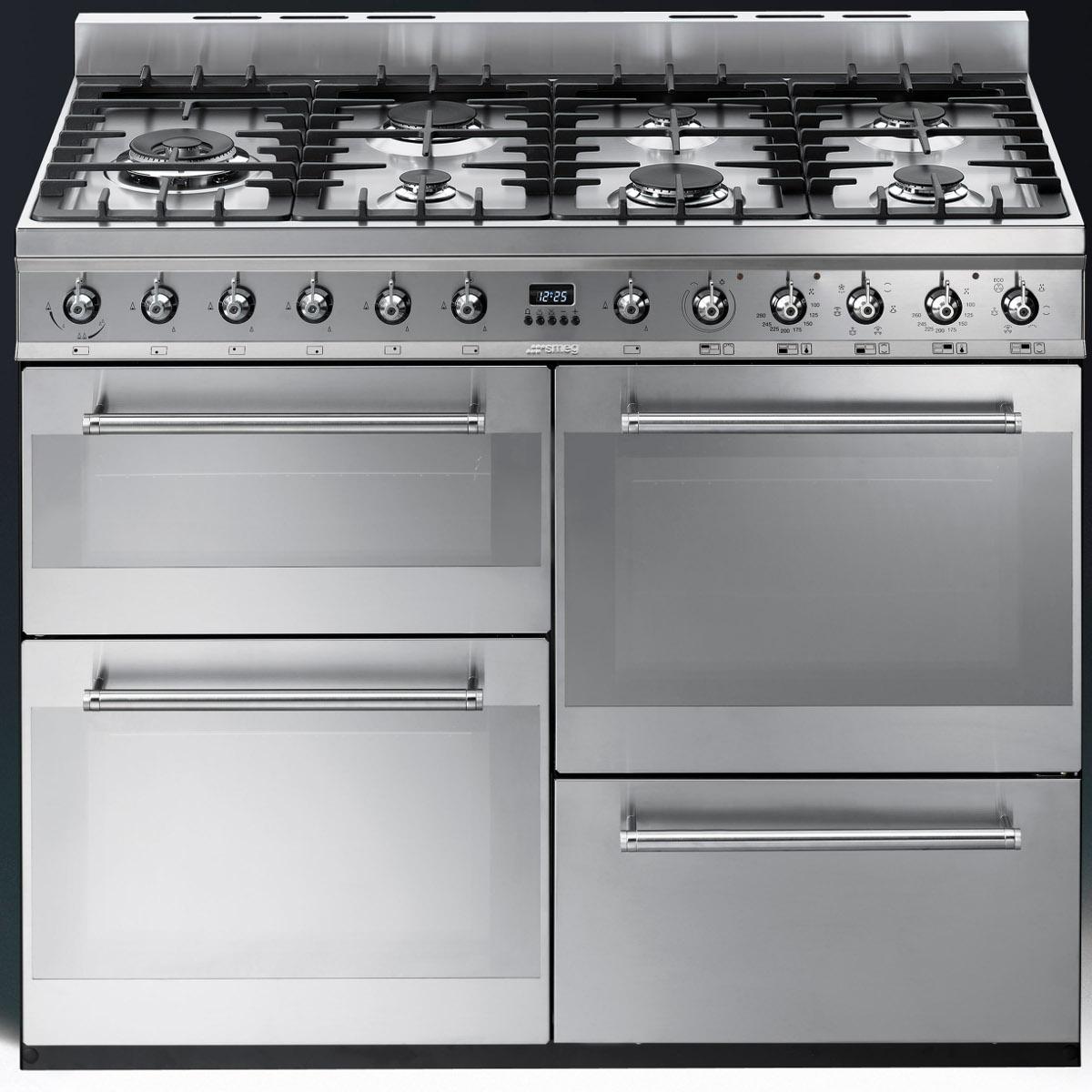 smeg syd4110 symphony 110cm dual fuel range cooker. Black Bedroom Furniture Sets. Home Design Ideas