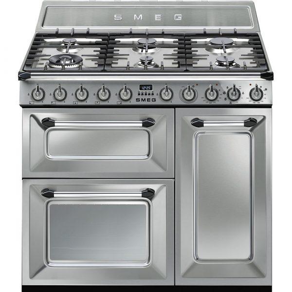Smeg TR93X Victoria Traditional 90cm Dual Fuel Range Cooker