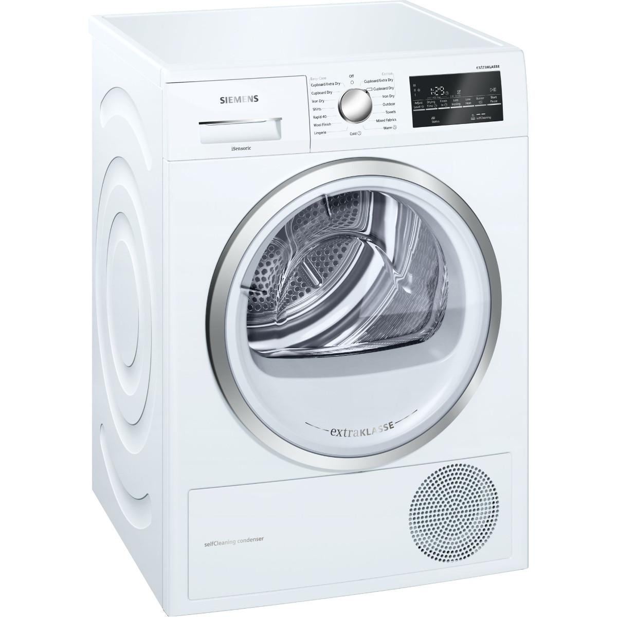 Buy siemens wt46w491gb 9kg condenser dryer with heat pump for Siemens asciugatrice