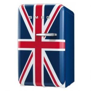 Smeg FAB5LUJ2 New 50's Retro Style Aesthetic Minibar Cooler in Union Jack, Left hand hinge