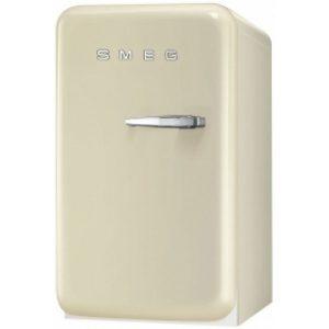 Smeg FAB5LCR New 50's Retro Style Aesthetic Minibar Cooler in Cream, Left hand hinge
