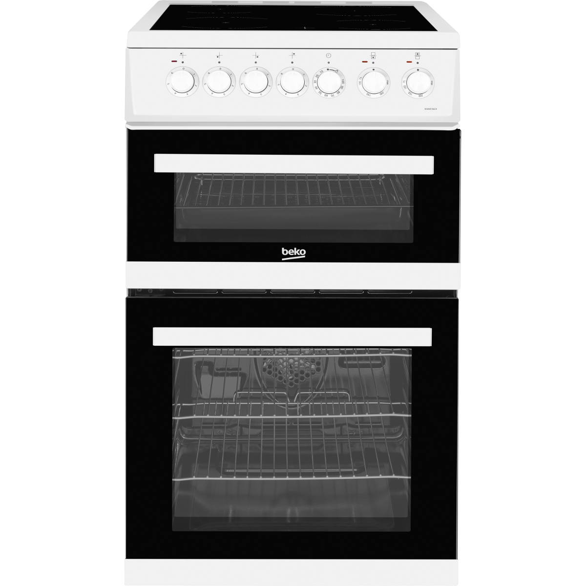 buy beko edvc503w 50cm double oven electric cooker. Black Bedroom Furniture Sets. Home Design Ideas