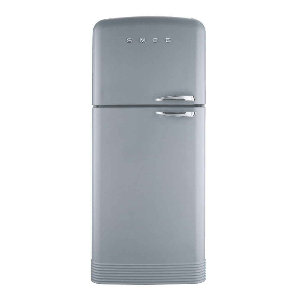 buy smeg fab50lsv 50 39 s retro style aesthetic 39 no frost 39 fridge freezer silver left hand hinge. Black Bedroom Furniture Sets. Home Design Ideas