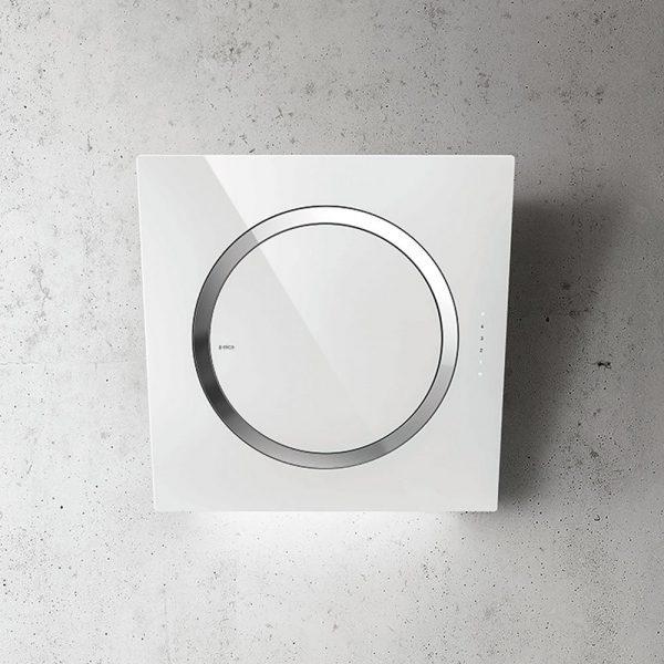 Elica IO-AIR-WHITE Glass Wall Mounted Hood