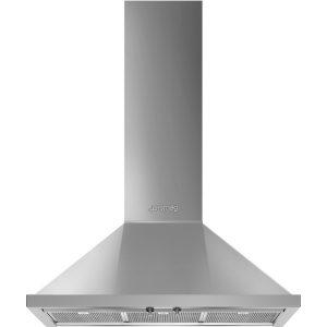SmegKPF9X Portofino Aesthetic 90cm Chimney Hood, Stainless Steel