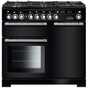 Rangemaster EDL100DFFBL/C Encore Deluxe 100 cm Dual Fuel Range Cooker in Black